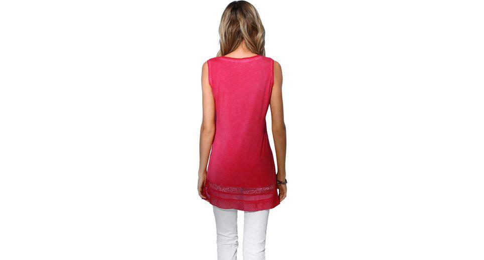 Neueste Création L Shirttop mit Spitzen-Einsatz und schimmernden Ziersteinchen Besuchen Online Billig Und Schön Verkauf Versorgung xor3fKzdM
