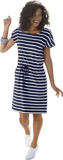 Collection L. Jersey Dress In Stripe Optics