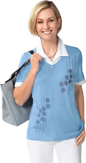 Classic Basics Shirt With Glittering Elements In The Front Part