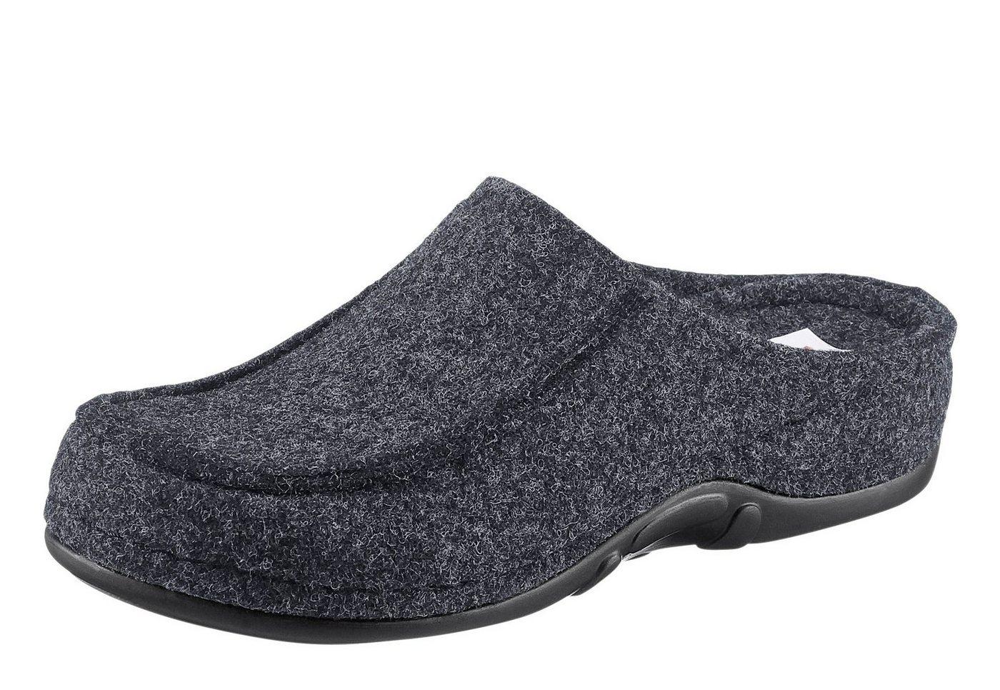 Berkemann Pantoffel mit rutschhemmender PUR-Laufsohle   Schuhe > Hausschuhe > Pantoffeln   Grau   Filz   BERKEMANN