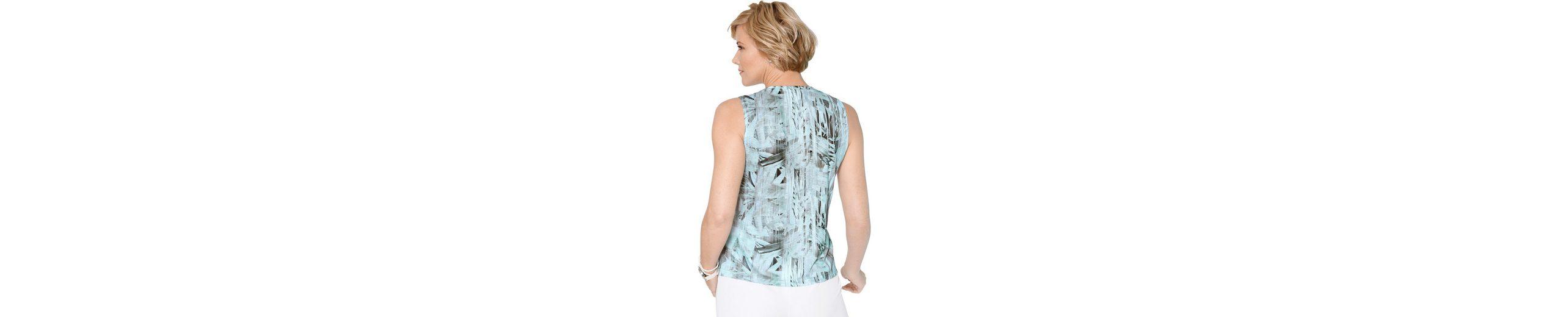 Classic Shirttop mit paspeliertem Rundhals-Ausschnitt Top Qualität Verkauf Footlocker PIIdfT3