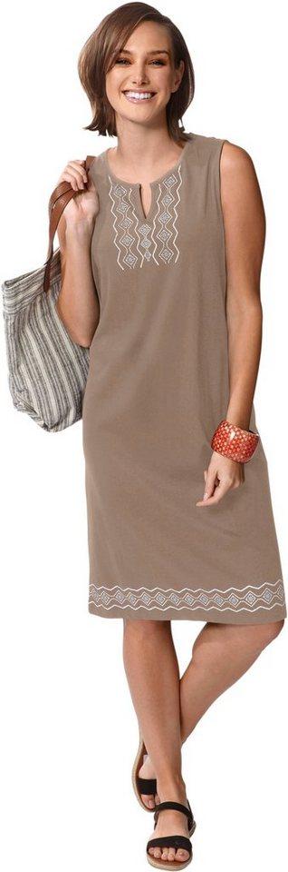 Damen Classic Basics Jersey-Kleid aus reiner Baumwolle grau | 08907682029485