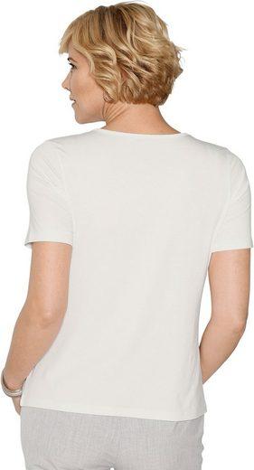 Classic Shirt mit Steinchen im Vorderteil