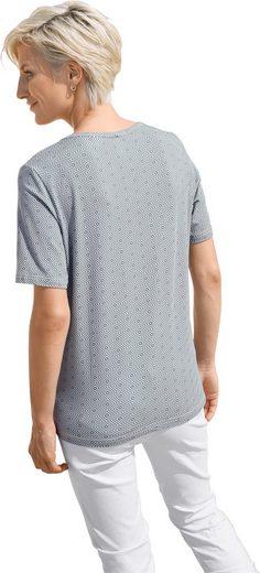 Collection L. Shirt mit schmaler Paspelierung entlang des Ausschnitts
