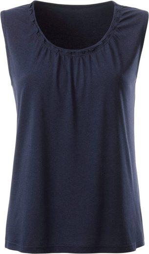 Classic Basics Shirttop mit verspielter Rüschenverzierung
