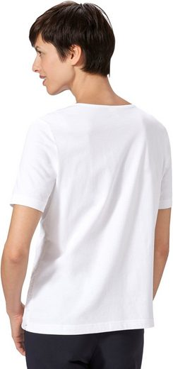 Classic Basics Shirt mit Spitzeneinsatz