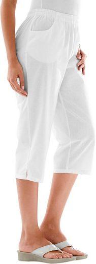 Classic Basics Capri-Hose aus reiner Baumwolle