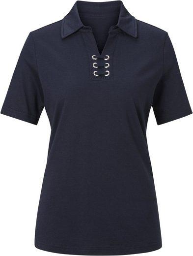 Collection L. Poloshirt aus reiner Baumwolle