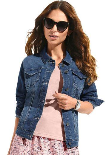 Classic Inspirationen Jeans-Jacke mit Metallknöpfen