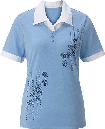 Classic Basics Shirt mit Glitzerelementen im Vorderteil
