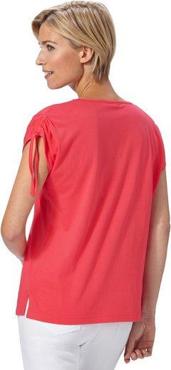 Classic Basics Shirt mit geraffter Schulterpartie