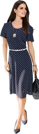 Lady Kleid mit figurschmeichelnden Abnähern