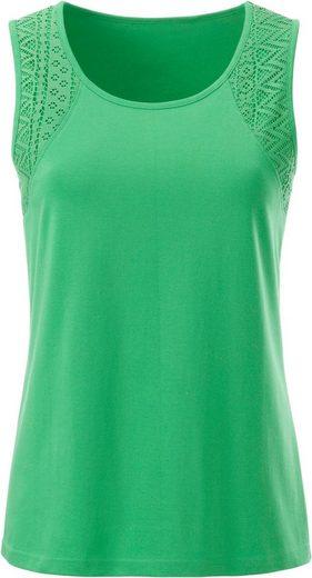 Classic Basics Shirttop mit Spitzeneinsätzen an den Trägern