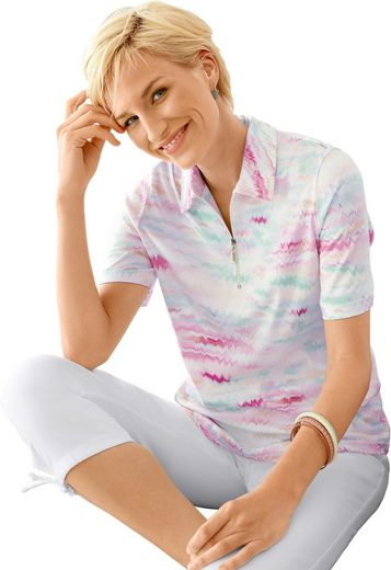 Collection L. Poloshirt im coolen Multicolor-Druck