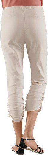 Classic Basics 3/4-Hose mit kleiner Raffung am Beinabschluss