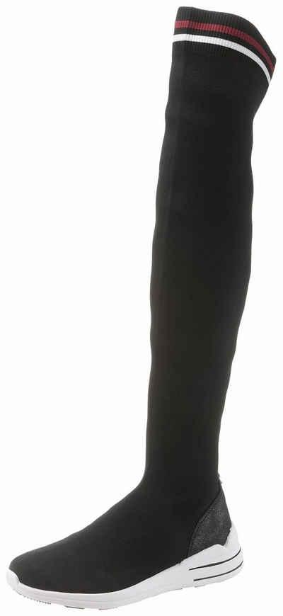 7207173cd035af TOM TAILOR Schlupfstiefel mit Schaft aus Textil mit Stretchfunktion
