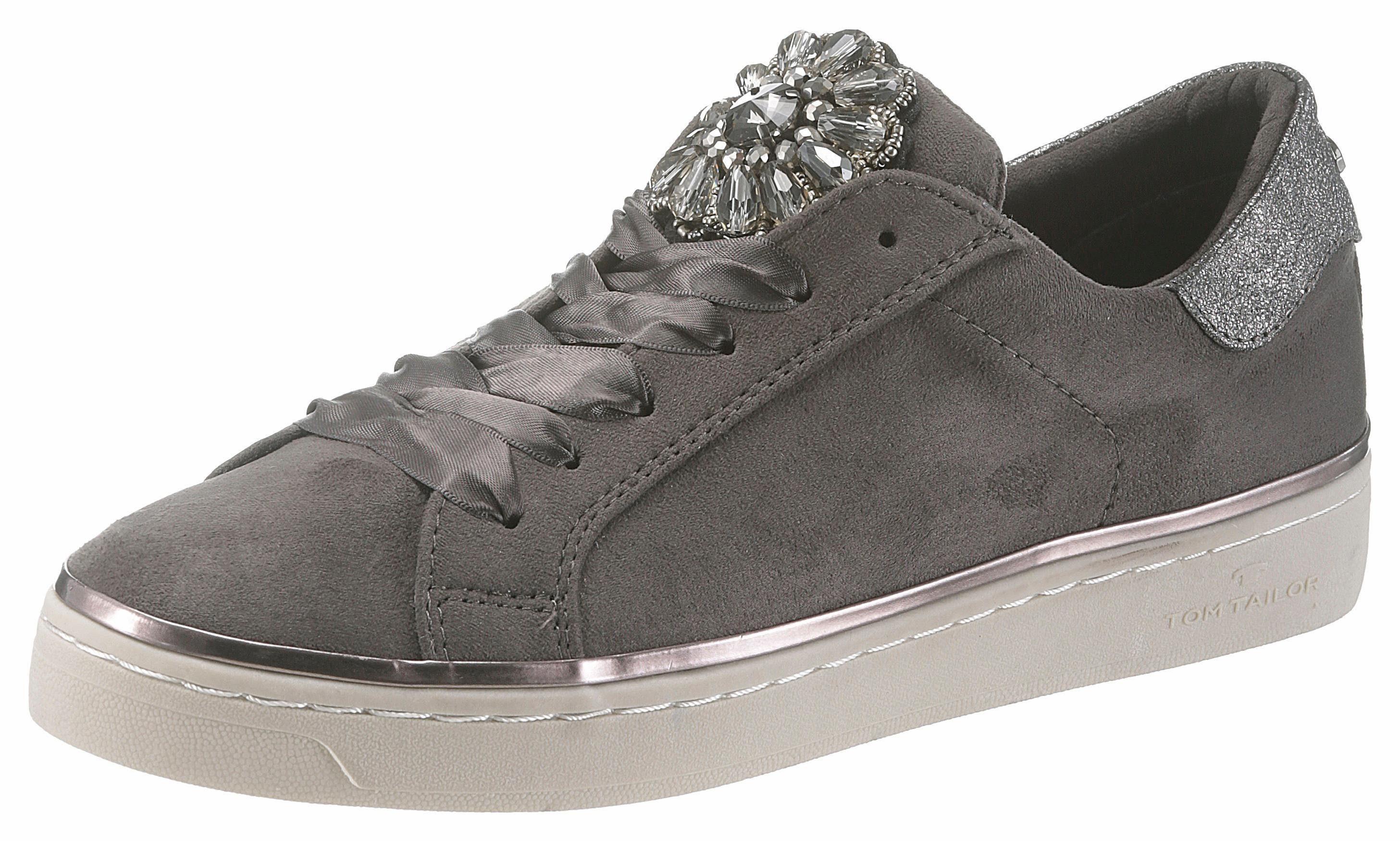 Tom Tailor Sneaker, mit angesagten Satinschnürsenkel online kaufen  anthrazit