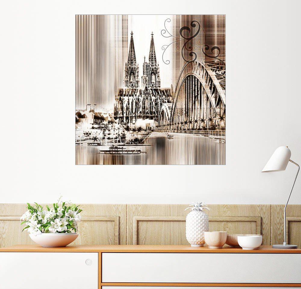 Posterlounge Wandbild - Städtecollagen »Köln 2 Skyline Abstrakt Germany«