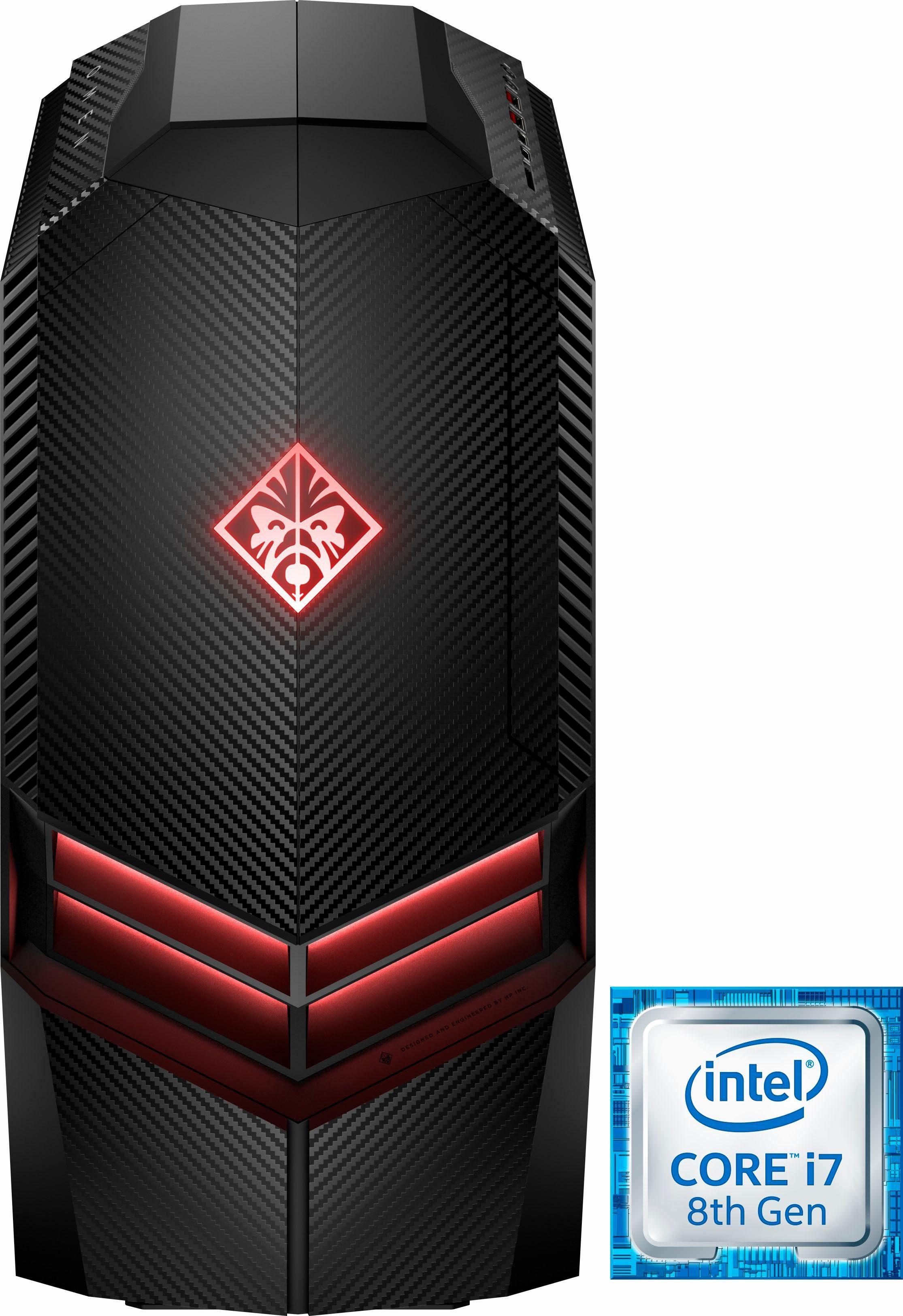 OMEN by HP 880-173ng Gaming-PC (Intel® Core i7, GeForce, 16 GB RAM, 2000 GB HDD, 256 GB SSD)