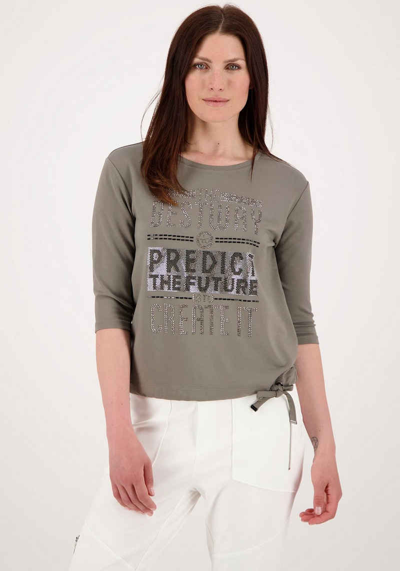 Monari 3/4-Arm-Shirt mit Glitzerdetails