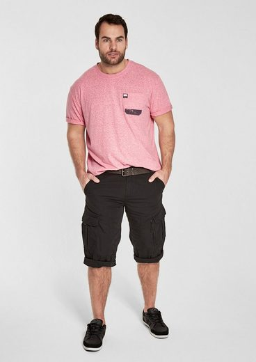 s.Oliver RED LABEL Melange-Shirt mit Print-Details