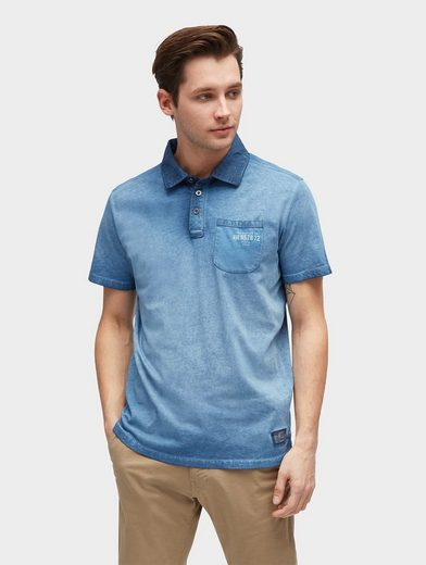 Tom Tailor T-Shirt Polo-Shirt mit Waschung