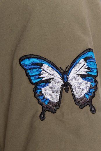 Finn Flare Freizeitjacke mit filigraner Schmetterling-Stickerei