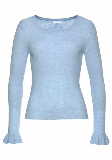 Claire Woman Crew-neck Sweater, With Volants On Sleeveless Statements