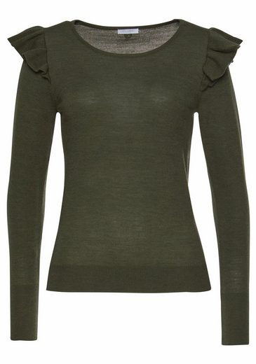 Claire Woman Crew-neck Sweater, With Volants