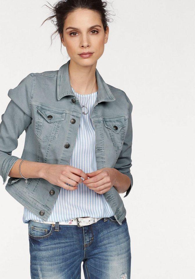 Jeansjacke stehkragen