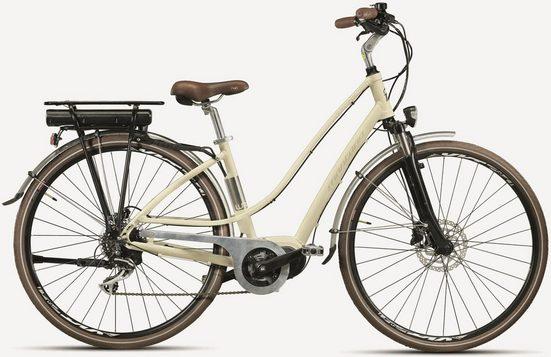 Montana Fahrräder E-Bike »E-LUNAPIENA N6930«, 8 Gang Shimano Shimano Acera M-360 Schaltwerk, Kettenschaltung, Mittelmotor 250 W