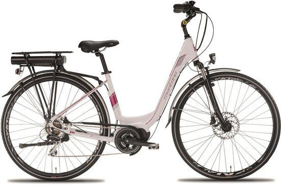 Montana Fahrräder E-Bike »E-THEA N6931«, 7 Gang Shimano Shimano Acera M-360 Schaltwerk, Kettenschaltung, Mittelmotor 250 W
