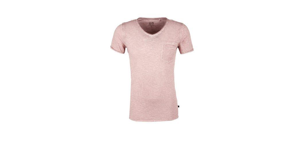 Shirt Slub by Q designed Q S Yarn mit S Brusttasche axTvPpwqRw