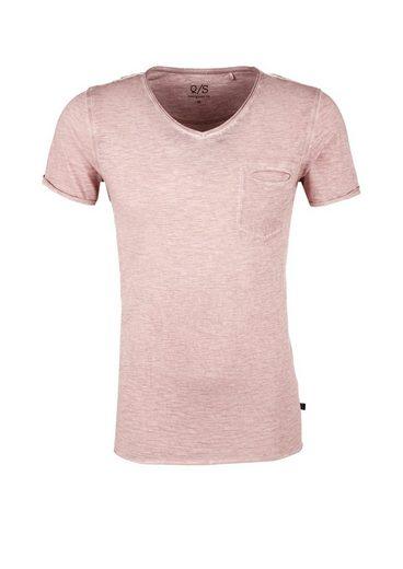 Q / S Designed By Slub Yarn-shirt With Chest Pocket
