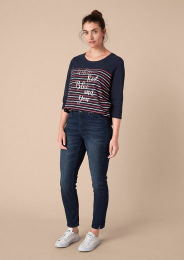 TRIANGLE Shirt mit gestreifter Front