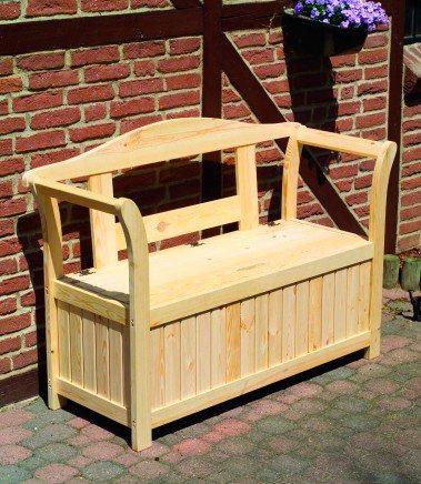 Promadino Friesen-Gartenbank mit Kissenbox 2-Sitzer