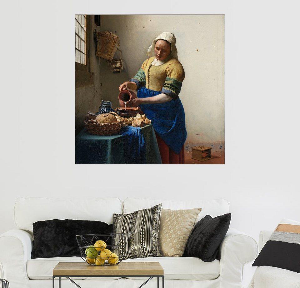 posterlounge wandbild jan vermeer das milchm dchen online kaufen otto. Black Bedroom Furniture Sets. Home Design Ideas