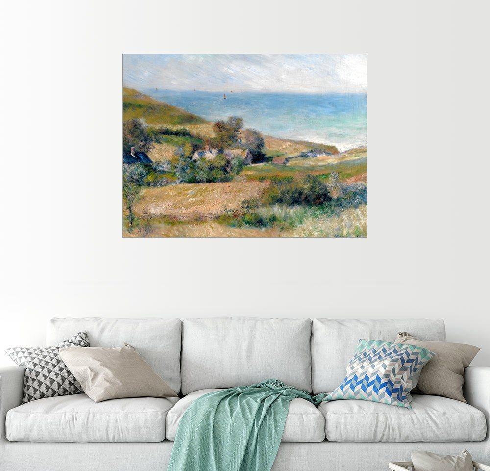 Posterlounge Wandbild - Pierre-Auguste Renoir »Küste in der Nähe Wargemont in der Normandie«