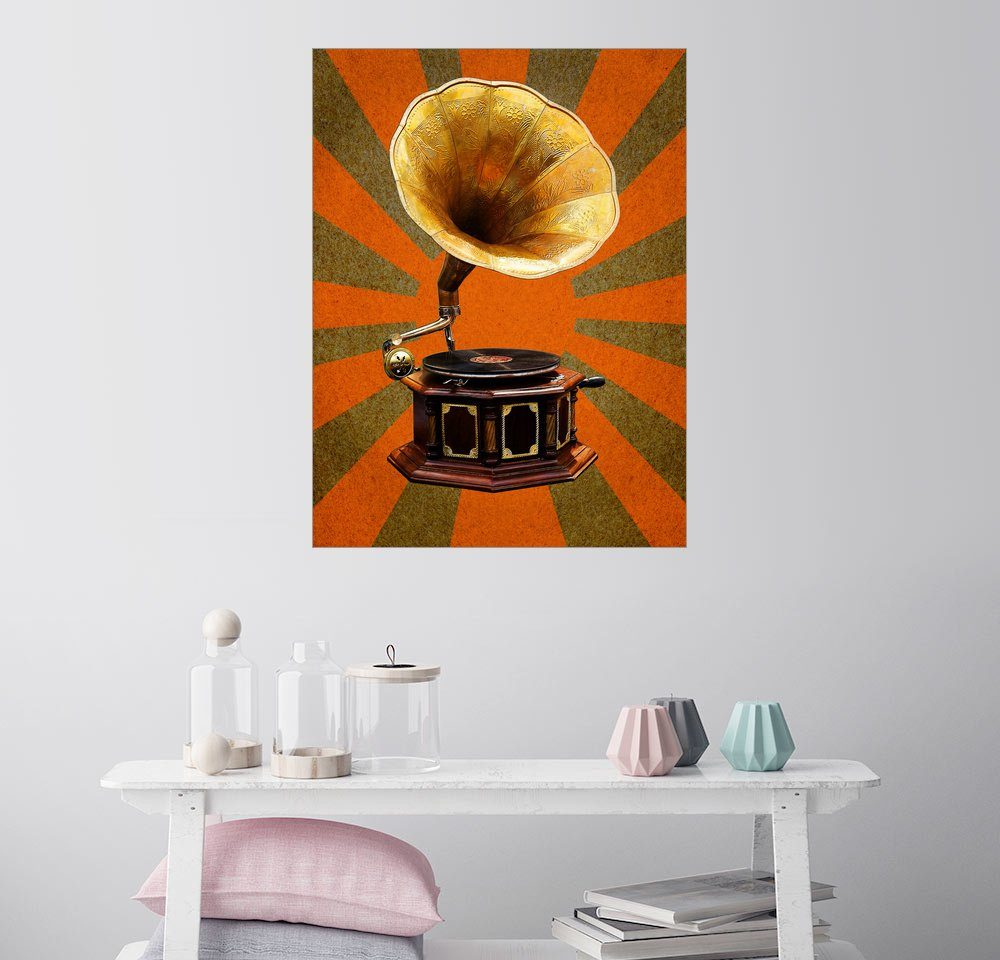 Posterlounge Wandbild »Grammophon«