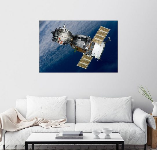 Posterlounge Wandbild - Stocktrek Images »Die Sojus TMA-7 Raumschiff«