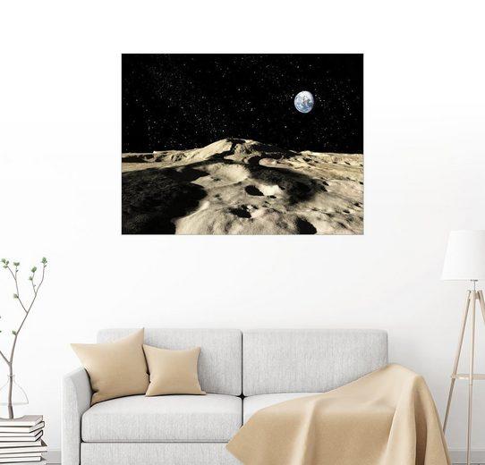 Posterlounge Wandbild - Ron Miller »Ein alter Lavastrom auf dem Mond der Erde«