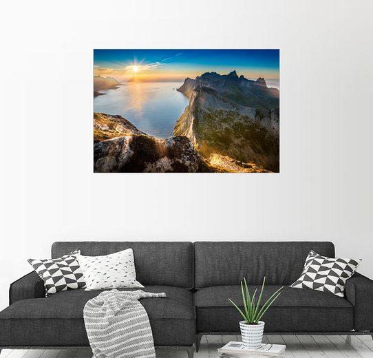 Posterlounge Wandbild - Markus Ulrich »Atemberaubender Blick vom Gipfel des Segla, I...«