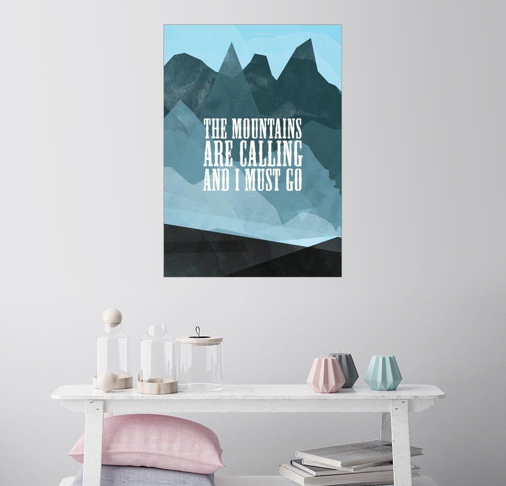 Posterlounge Wandbild   RNDMS »Der Berg Ruft«