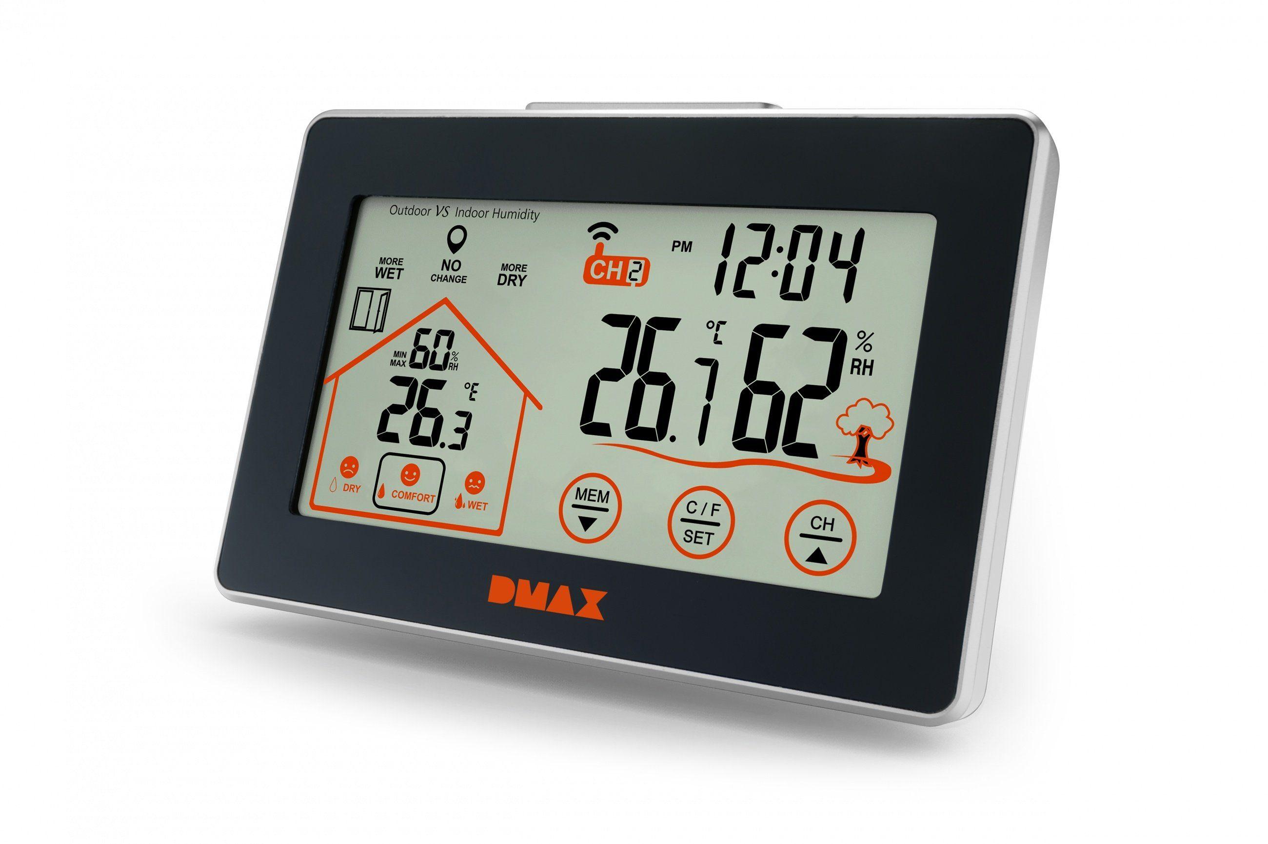 Dmax Hygrometer »Temperatur & Hygro Station mit Lüftungsempfehlung«