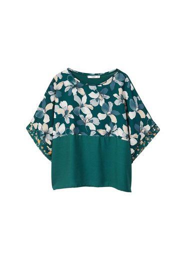 MANGO Gemustertes T-Shirt mit Kontrastdesign