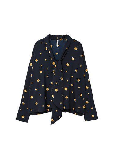 MANGO Bedruckte Bluse mit Schleife
