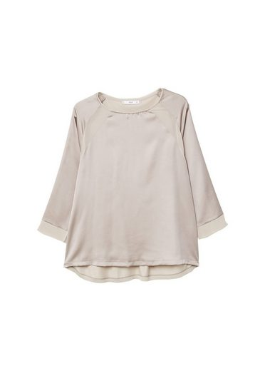 MANGO T-Shirt mit fließendem Einsatz