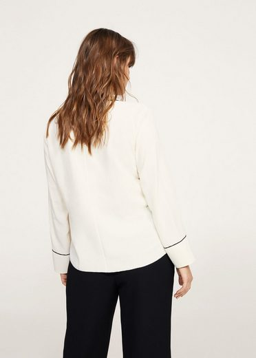 Violeta By Mango Blouse Crystal Button With