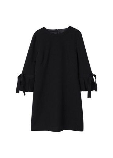 MANGO Kleid mit Plissee-Ärmel
