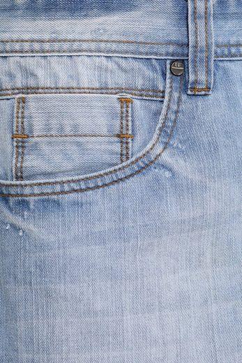 Finn Flare Jeans-Shorts mit geradem Bein